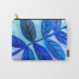Leaves in Blue Carry-All Pouch