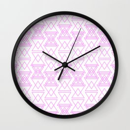 RIGHT AND WRONG I: EASY PINK Wall Clock