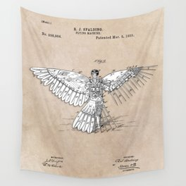 patent art Spalding Flying Machine  1889 Wall Tapestry