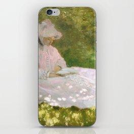 Springtime by Claude Monet iPhone Skin