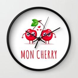 Mon Cherry Wall Clock