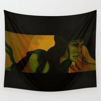 wind Wall Tapestries featuring Wind by Third Eye Rye