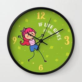 If life gives you lemons Wall Clock