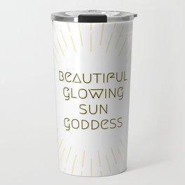 Beautiful Glowing Sun Goddess Travel Mug