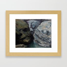face to face Framed Art Print