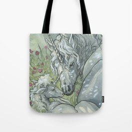 Unicorn mother Tote Bag
