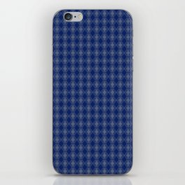 Blue and white pattern iPhone Skin