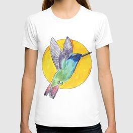 Bird colibri and sun T-shirt