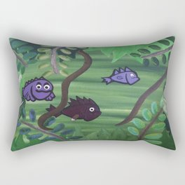Bernard the Jungle Fish Rectangular Pillow