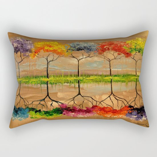 Each tree by its smell Rectangular Pillow
