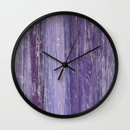 Purple Woodland Wall Clock