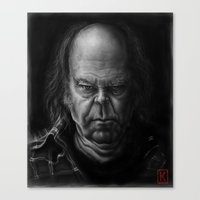 neil young Canvas Prints featuring Neil Young by AndreKoeks