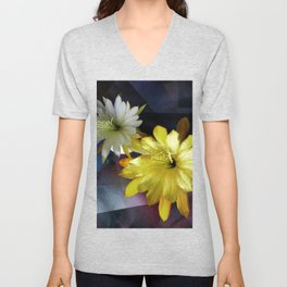 Silver And Gold Unisex V-Neck