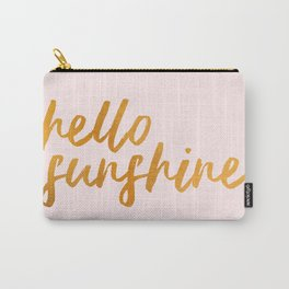 Hello sunshine - Gold and Pink Carry-All Pouch