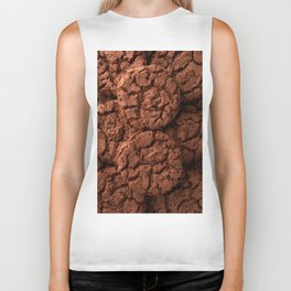 Group of dark chocolate cookies Biker Tank