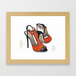 Charlotte Olympia's Lobster Shoe Painting Framed Art Print