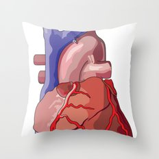Vector Heart Throw Pillow