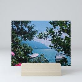 lake geneva, switzerland ix Mini Art Print