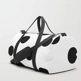 Polkadot (Black & White Pattern) Duffle Bag