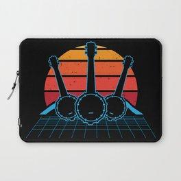 Retro Banjo Banjo Player Gift Laptop Sleeve
