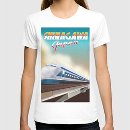 Shinagawa Japan travel poster T-shirt
