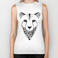 cheetah Biker Tanks featuring Cheetah by Art & Be