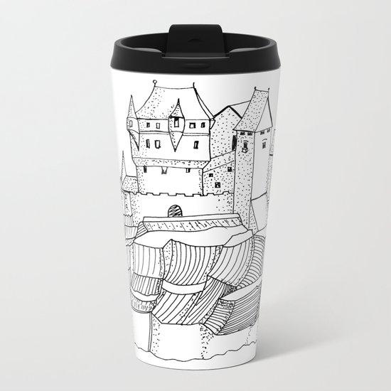 Castle on the cliff Metal Travel Mug