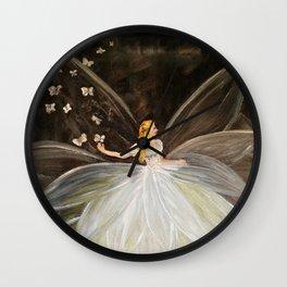 Golden Butterfly Fairy Wall Clock