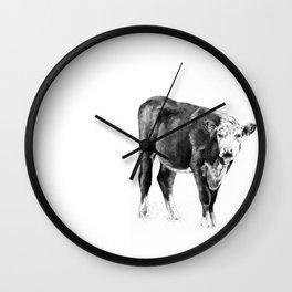 Cow and Cowbird Wall Clock