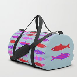 Colorful fish school pattern Duffle Bag