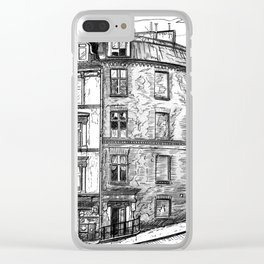 The old buildings of Paris, 1932 Clear iPhone Case
