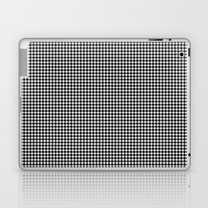 Classic Vintage Black and White Houndstooth Pattern Laptop & iPad Skin