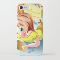 snorlax iPhone & iPod Cases featuring Girl Reading the Bible by Bemmygail