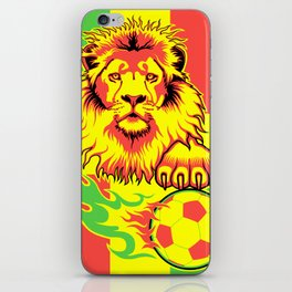 African Soccer Lion iPhone Skin