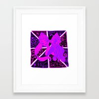 ariana grande Framed Art Prints featuring Ariana Grande Ft. Iggy Azalea by Glopesfirestar