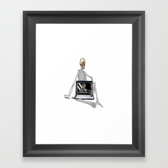 Skelet Framed Art Print