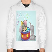 baby elephant Hoodies featuring Baby Elephant  by grapeloverarts