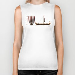 Oseberg Viking Ship Biker Tank