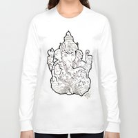 ganesha Long Sleeve T-shirts featuring Ganesha by Sofia Bernikova
