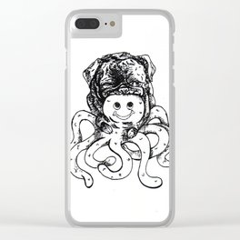 Kyle James The Octopus Serial Killer Clear iPhone Case