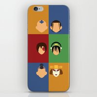 zuko iPhone & iPod Skins featuring Team Avatar by Adrian Mentus
