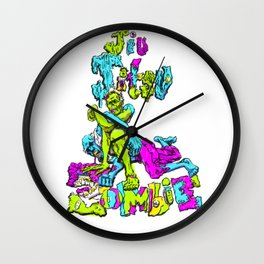 Jiu Jitsu Zombie setting up an armbar Wall Clock