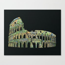 Colosseum Collage Canvas Print