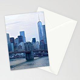 Lower Manhattan skyline Stationery Cards