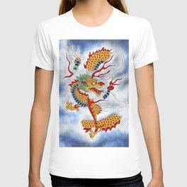 Dragon in the Cloud Type K: Minhwa-Korean traditional/folk art T-shirt
