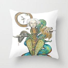 Chronos Albert Einstein Throw Pillow