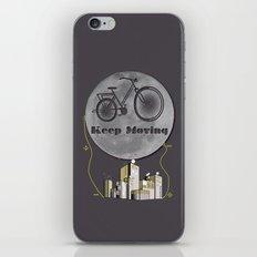 Moon Keep Moving Bicycle iPhone & iPod Skin