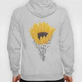 Sunflower 01 Botanical Flower Hoody