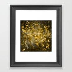Abstract Gold Framed Art Print