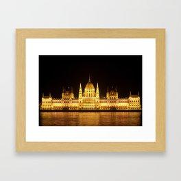 Budapest by Night Framed Art Print